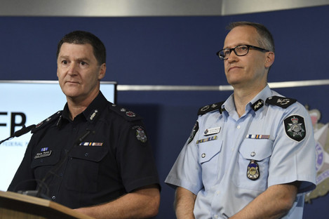 Australian Federal Police, Acting Deputy Commissioner Ian McCartney and Victoria State Police Deputy Commissioner Shane Patton
