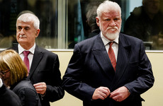 Bosnian army leader dies after drinking poison at war crimes court