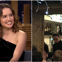 Daisy Ridley hopped behind the bar to pull pints at the Star Wars wrap party in Dingle