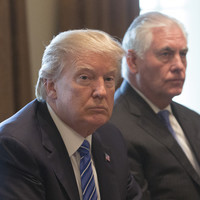'Rex is here': Trump passes up the chance to back Secretary of State Tillerson