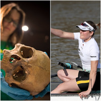 Prehistoric women crushing grain into flour were stronger than today's Olympic standard rowers