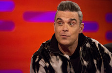 Robbie Williams made a very quick save when his wife appeared on Graham Norton's red chair