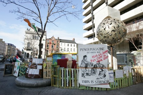 The Occupy Dame Street camp