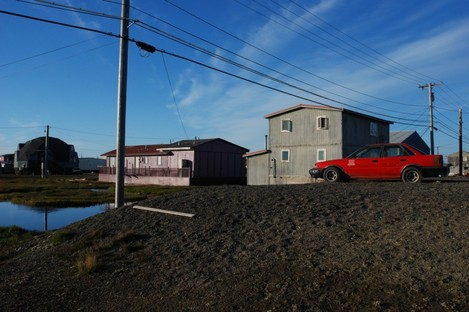 General view of homes in Barrow, Alaska