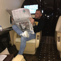 Conor McGregor posted an Instagram where he's reading a newspaper upside down *again*...it's The Dredge