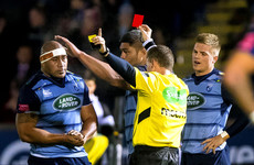 Cardiff prop to face disciplinary panel after controversial red card
