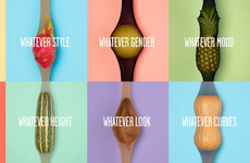 Victoria's Secret could learn a thing or two from this ad for tights using fruit