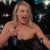 Margot Robbie knocked back some Harp with Chris Pratt on the Jimmy Kimmel show last night