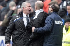 Newcastle boss Pardew 'sorry' for celebrating