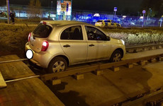 Driver arrested after car found on Luas tracks