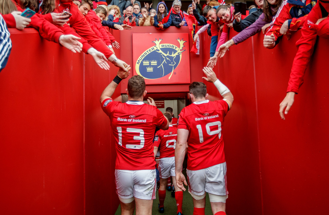 they love munster and munster love them taute confident pom and