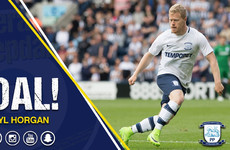 Daryl Horgan came off the bench to score a decisive goal for Preston this afternoon