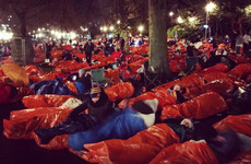 Sir Bob Geldof among 8,000 who slept out in freezing Edinburgh to raise money for homelessness