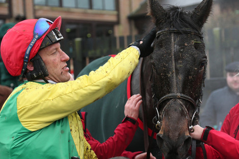 Robbie Power and Sizing John after victory at Punchestown.