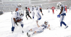 Blizzard bowl as Bills beat Colts in 'Snowvertime'