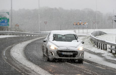 Snow and ice warning on the roads with temperatures as low as -4 this morning