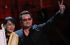 U2 write letter supporting the Freedom of Dublin being stripped from Aung San Suu Kyi