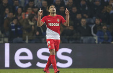 Radamel Falcao conjured an astonishing strike for Monaco but only a paltry crowd witnessed it