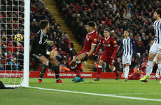 More Anfield frustration for Liverpool as late goal disallowed in stalemate with West Brom