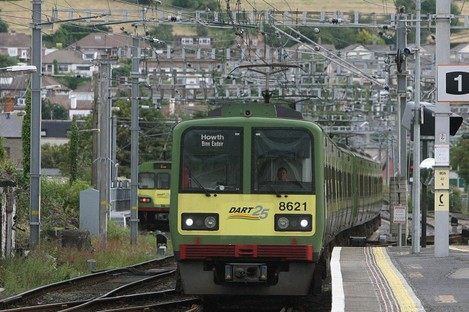 A DART leaving Bray station (File photo)