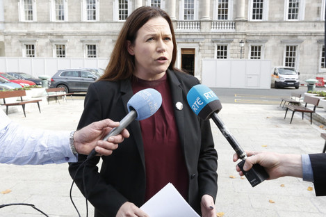 Louise O'Reilly was one of three Sinn Féin members to abstain in yesterday's vote.