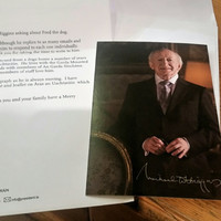 This man's quest to find out about Michael D's mysterious dog led to a lovely letter from the Áras