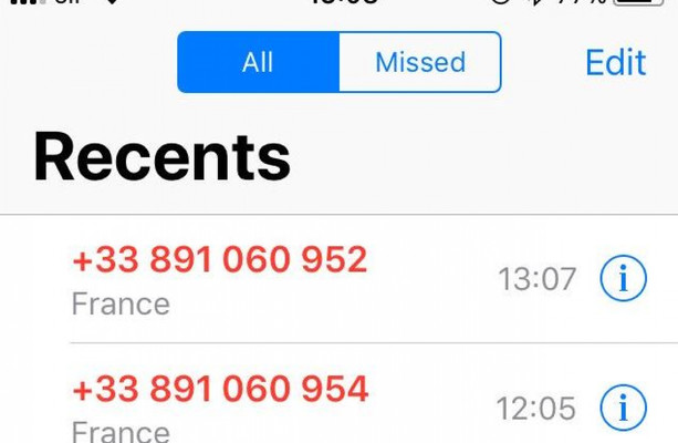 Get a few missed calls from a French number? Don't ring back