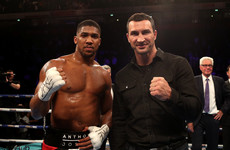 Wladimir Klitschko raises £160,000 by auctioning off robe from Joshua fight