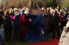 Michael D Higgins unveiled The People's Acorn in Áras an Uachtaráin today