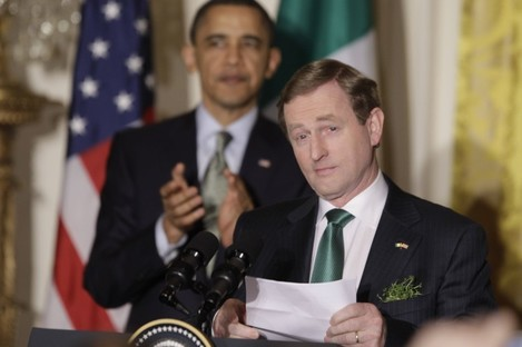 Enda Kenny at the White House's St Patrick's Day celebrations last year.