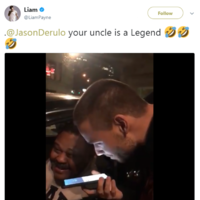 Jason Derulo's uncle picked up Liam Payne in an Uber and they had a great laugh together
