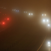Poor visibility and hazardous driving conditions on a very foggy morning around the country