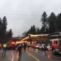 Multiple fatalities and injuries after Washington train derails onto highway