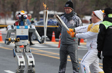 South Korea has 85 robot volunteers for the Winter Olympics, including a robot torch bearer