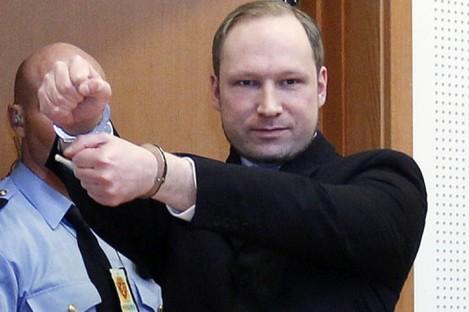 Anders Behring Breivik in court last month.