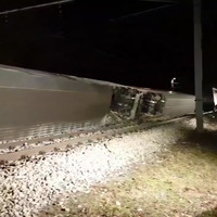 Eight injured as two trains collide and carriages overturn near Vienna
