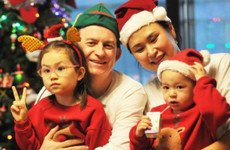 The man from *that* BBC interview shared a lovely family Christmas message and the photo is just the best