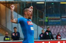 Marek Hamsik breaks Maradona's record as Napoli extend Serie A lead