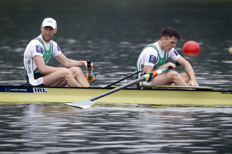 Ireland's Mark O'Donovan and Shane O'Driscoll pictured at the World Rowing Cup in Belgrade.