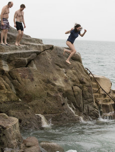 Pictures: These hardy souls braved the Forty Foot on a very rainy Christmas in Sandycove today
