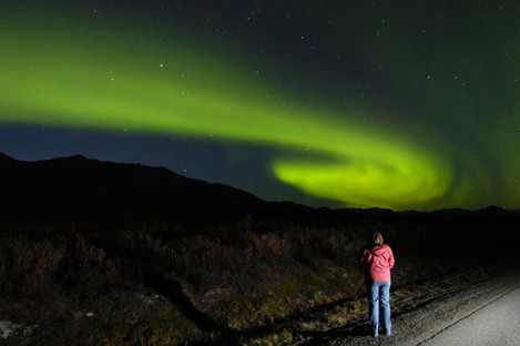 Okay, so it's not Donegal (it's Alaska) but there is some chance of catching a glimpse of the Northern Lights in the northern skies tonight.