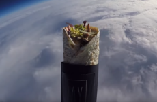 Someone sent a kebab into space, and it's strangely majestic