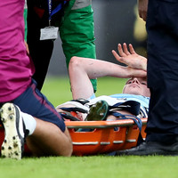 De Bruyne stretchered off and Palace miss late penalty as Man City's winning run ends