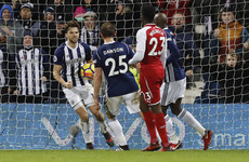 Arsenal left fuming as contentious penalty sees West Brom snatch a point