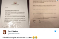 A Dublin hotel are going extremely viral for the ridiculous guest directory they leave in their rooms