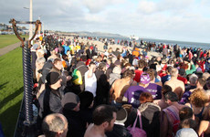 These brave souls took to the sea for a New Year's Day swim