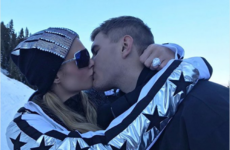 Paris Hilton is showing off her huge engagement ring after breaking the news on Twitter