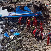At least 48 people die after bus goes off Peru's 'Devil's Curve'