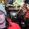 Theresa Mannion's report on the weather in Galway was interrupted by a lad wrapped up in an American flag