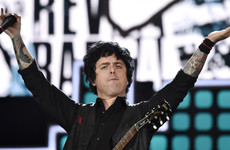 Green Day's Billie Joe Armstrong tells a Trump supporting fan to 'f**k off' and stop listening to Green Day records